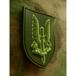 JTG - WHO DARES WINS - SAS Patch, light-forest / 3D Rubber patch