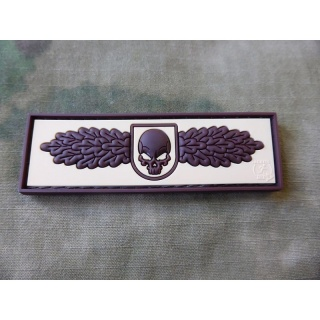 JTG - SOF Skull Badge, desert / 3D Rubber patch