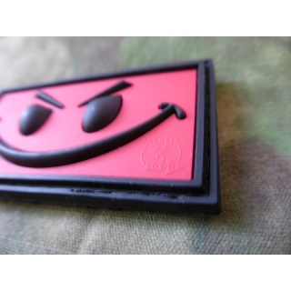 JTG - Evil Smiley Patch, red / 3D Rubber patch