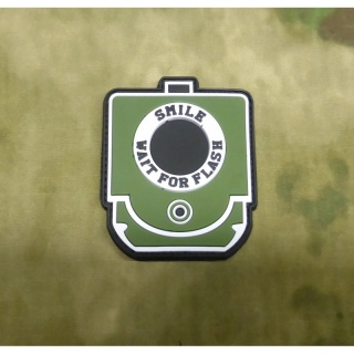 JTG - Smile and Wait for Flash Patch, forest / 3D Rubber patch