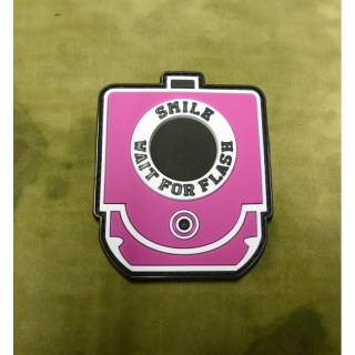 JTG - Smile and Wait for Flash Patch, pink / 3D Rubber patch