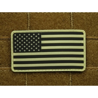 JTG - USA Flagge - Patch, gid (glow in the dark) / 3D Rubber patch