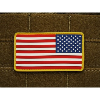 JTG - USA Flagge Reversed - Patch, fullcolor / 3D Rubber patch