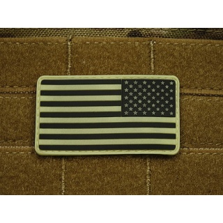 JTG - USA Flagge Reversed - Patch, gid (glow in the dark) / 3D Rubber patch