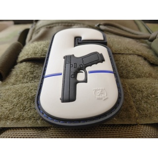 JTG  WY6 - Watch Your Six Patch, fullcolor, Thin Blue Line, special edition / JTG 3D Rubber Patch