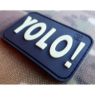 JTG - YOLO (You Only Live Once) Patch, gid (glow in the dark) / 3D Rubber patch
