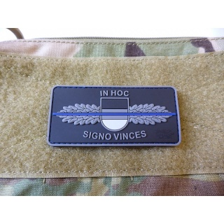 JTG  SEK-Patch - in hoc signo vinces -  Thin Blue Line, special edition / JTG 3D Rubber Patch
