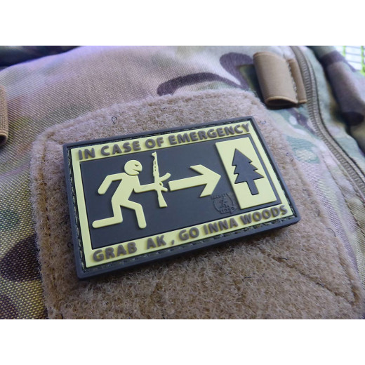 JTG Emergency Patch, fullcolor / 3D Rubber patch