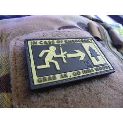 JTG Emergency Patch, fullcolor / 3D Rubber patch