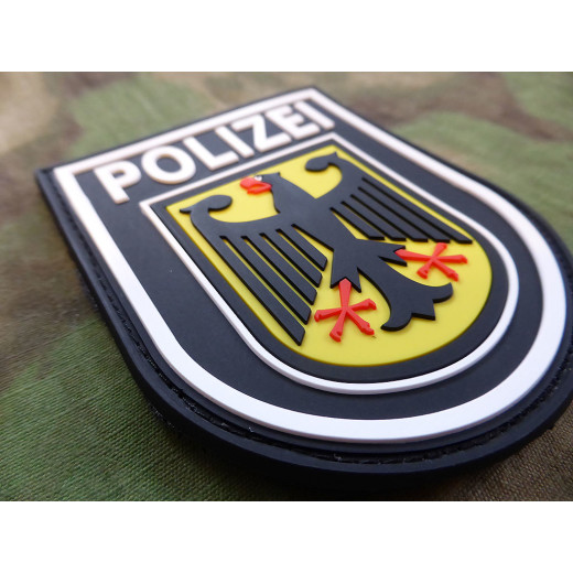 JTG - Ärmelabzeichen - Bundespolizei - Patch, schwarz / 3D Rubber patch