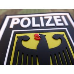 JTG - Ärmelabzeichen - Bundespolizei - Patch, schwarz / 3D Rubber patch