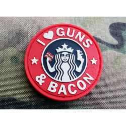 JTG - Guns and Bacon Patch, fullcolor / 3D Rubber patch