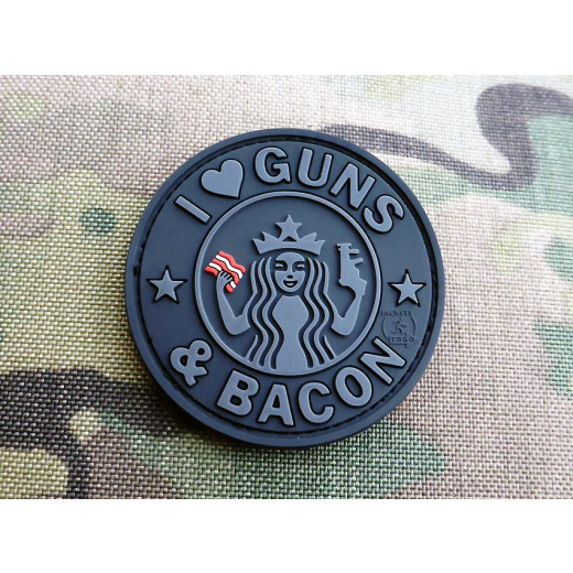 JTG - Guns and Bacon Patch, blackops / 3D Rubber patch