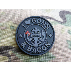 JTG - Guns and Bacon Patch, blackops / 3D Rubber patch