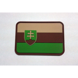 JTG - Slowakische Flagge Patch, multicam / 3D Rubber patch