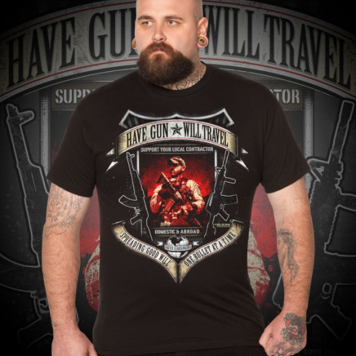 7.62 Design - Have Gun, Will Travel - T-Shirt, black