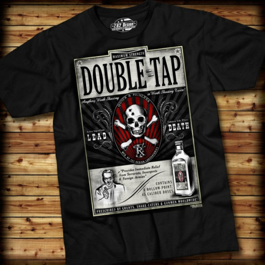 7.62 Design - Double Tap - T-Shirt, black