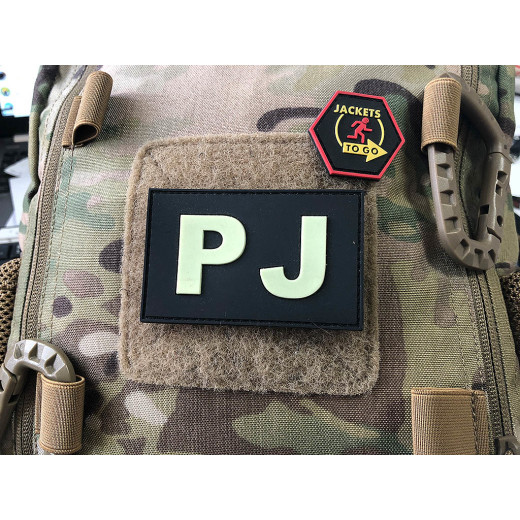 JTG - PJ - Pararescue Jumper - Patch, gid (glow in the dark) / 3D Rubber patch