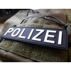 JTG Polizei Schriftzug Patch, swat / 3D Rubber patch