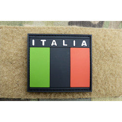 JTG - Italien Flagge - Patch, subbed black / 3D Rubber patch