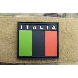 JTG - Italian Flag Patch, subbed black / 3D Rubber patch