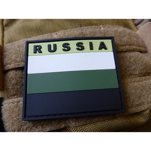 JTG - Russian Federation Flag Patch, subbed green / 3D Rubber patch