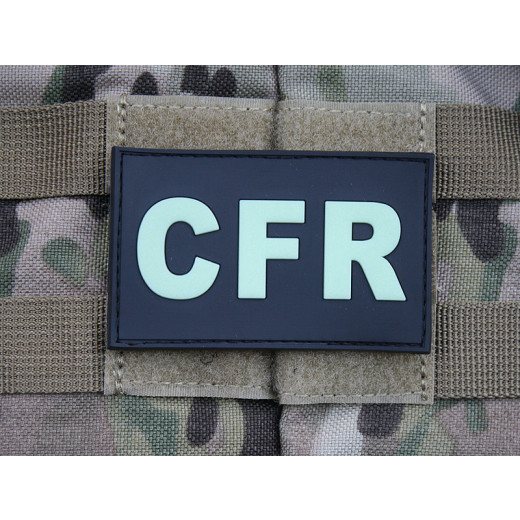 JTG - CFR - Combat First Responder - Patch, gid (glow in the dark) / 3D Rubber patch
