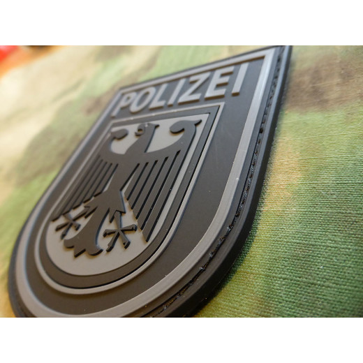 JTG - Ärmelabzeichen - Bundespolizei - Patch, blackops / 3D Rubber patch