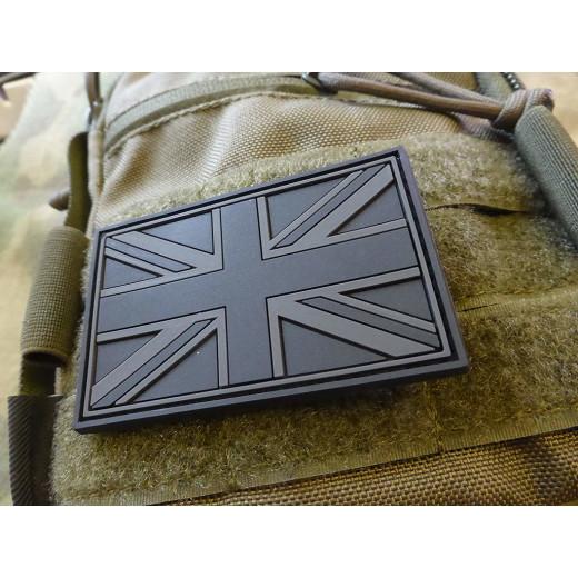 JTG - UK Flagge - Patch, blackops / 3D Rubber patch
