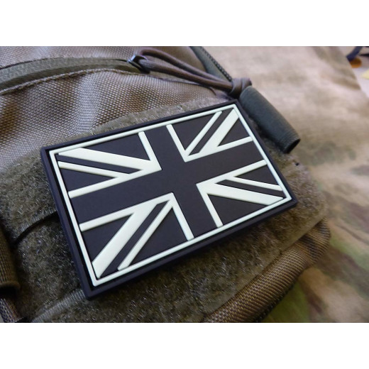 JTG - UK Flagge - Patch, gid (glow in the dark) / 3D Rubber patch