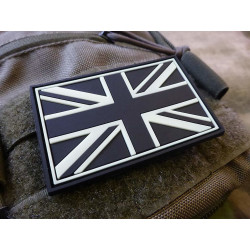 JTG - UK Flag Patch, gid (glow in the dark) / 3D Rubber patch