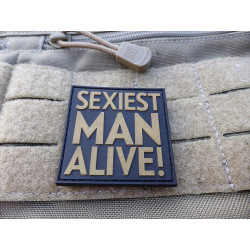 JTG - Sexiest Man Alive Patch, gold / JTG 3D Rubber patch