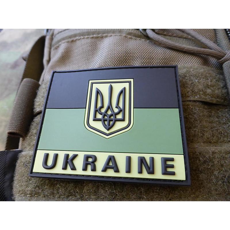 Jackets To Go JTG Ukraine Flag Patch Full Colour 3D Rubber Patch
