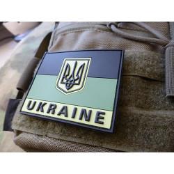 JTG - Ukraine Flag Patch, subbed green / 3D Rubber patch