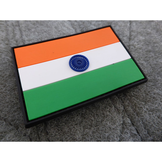 JTG - Indien Flagge - Patch / 3D Rubber patch