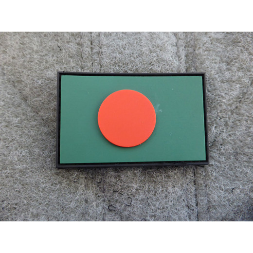 JTG - Bangladesch Flagge - Patch / 3D Rubber patch