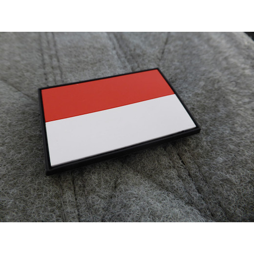 JTG - Indonesien Flagge - Patch / 3D Rubber patch