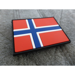 JTG - Norwegen Flagge - Patch / 3D Rubber patch