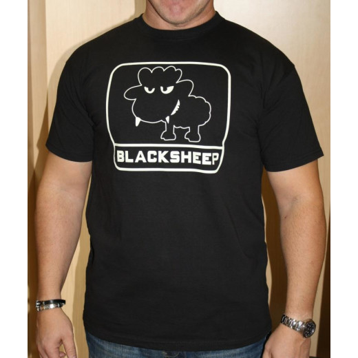 JTG - Little BlackSheep T-Shirt, black - Logo nachleuchtend (glow in the dark) - Größe: S