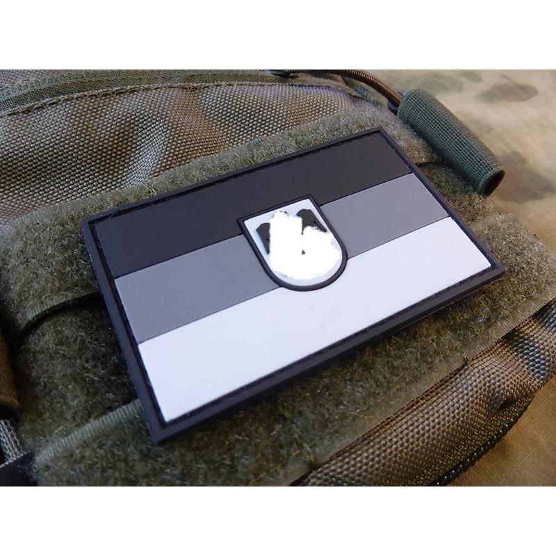 Patch JTG Deutschlandflagge grau // JTG 3D Rubber Patch groß mit DEU