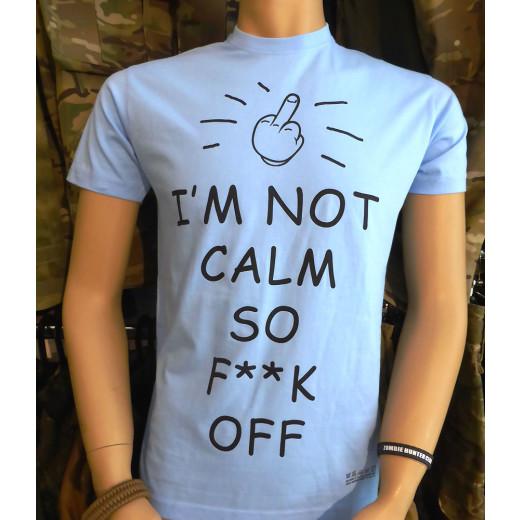 JTG - Im not Calm SFO - T-Shirt, sky blue - Größe: XXL