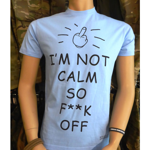 JTG - Im not Calm SFO - T-Shirt, sky blue - Größe: 4XL