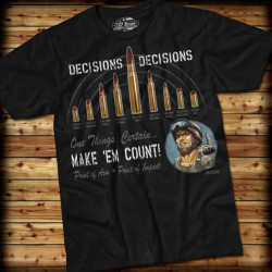 7.62 Design - Decisions, Decisions - T-Shirt, black -...