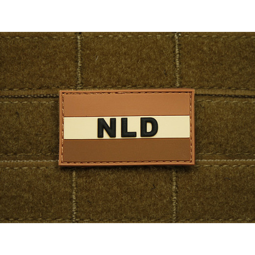 JTG - Niederlande Flagge - Patch, desert / 3D Rubber patch