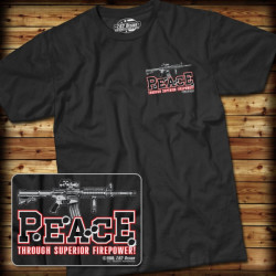 7.62 Design - Superior Firepower - T-Shirt, black - Size: M
