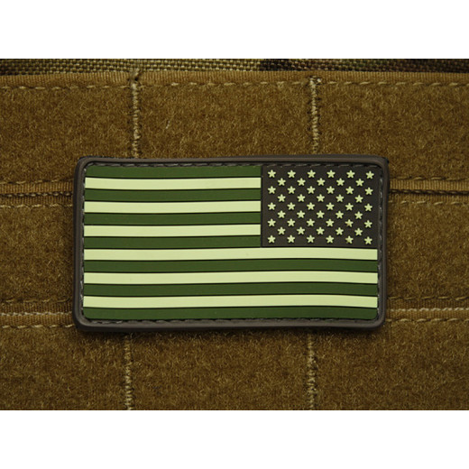 JTG - USA Flagge Reversed - Patch, forest / 3D Rubber patch