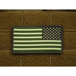 JTG – US Flag Reversed Patch, forest / 3D Rubber patch