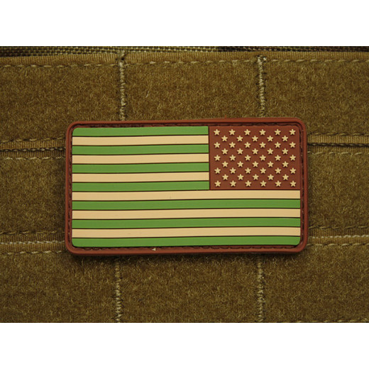JTG - USA Flagge Reversed - Patch, multicam / 3D Rubber patch