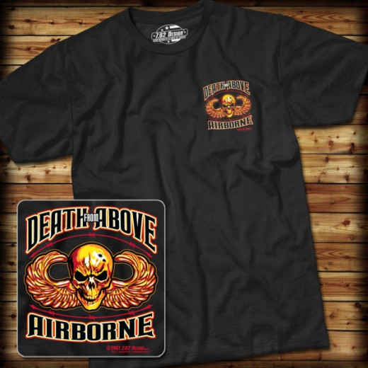 7.62 Design - Airborne Death From Above - T-Shirt, black - Größe: S