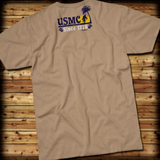 7.62 Design - USMC Beach Party - T-Shirt, khaki - Größe: S